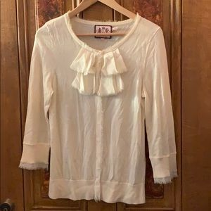 Juicy Couture ivory cardigan